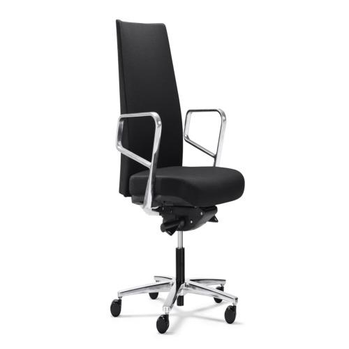 Chaise de bureau calzone noir chambre weba meubles for Meuble bureau weba