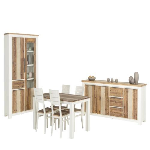Salle manger cargo avec 4 chaises cargo weba meubles for Salle a manger weba