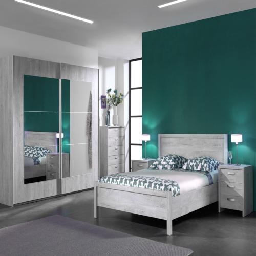 Chambre coucher alice avec lit 160x200cm weba meubles for Chambre a coucher weba
