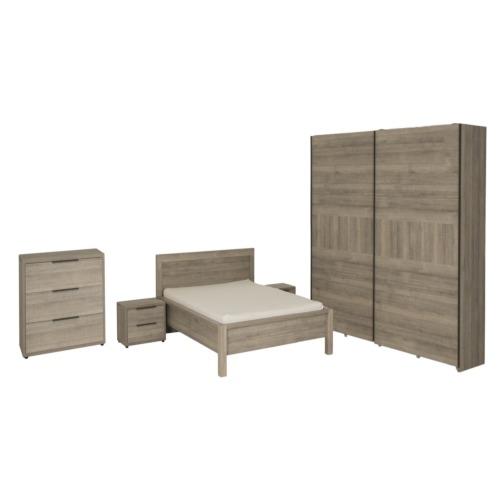 Chambre coucher avec lit 160x200cm chambre coucher for Chambre a coucher weba