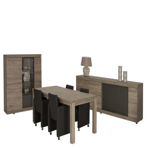 Salle manger bologna avec 4 chaises mateo weba meubles for Salle a manger weba