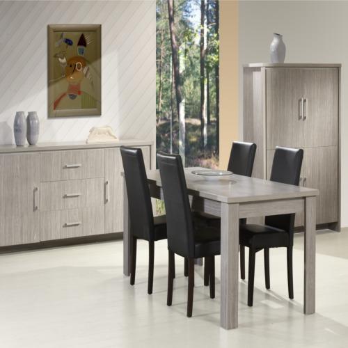 salle manger emotion avec 4 chaises candice weba meubles