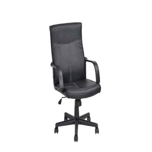 Chaise de bureau guest noir bureau weba meubles for Meuble bureau weba