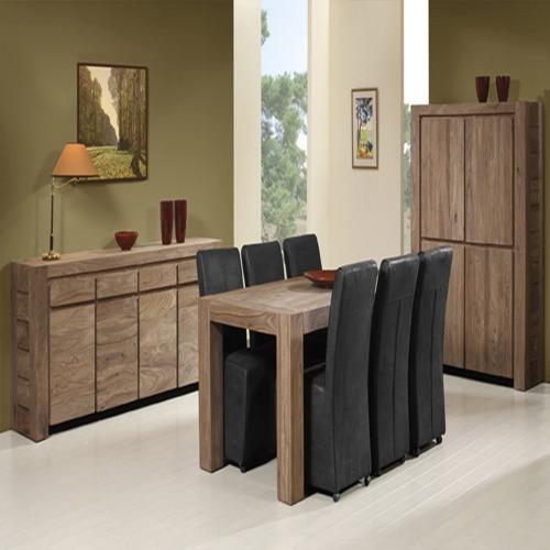 salle manger carbone avec 6 chaises queens pr mont weba meubles On salle a manger weba