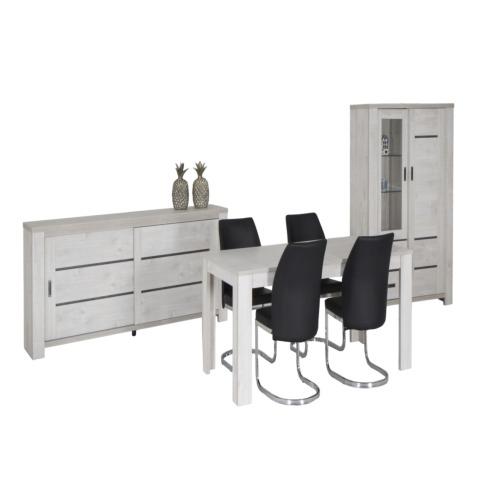 Salle manger winger avec 4 chaises winger weba meubles for Salle a manger weba
