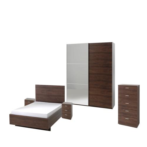 Chambre coucher helga2 avec lit 160x200cm weba meubles for Chambre a coucher weba