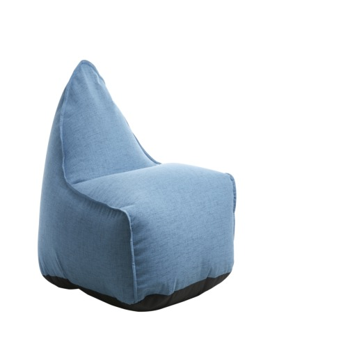 pouf poire chill tissu bleu poufs poire chaises enfant weba meubles. Black Bedroom Furniture Sets. Home Design Ideas