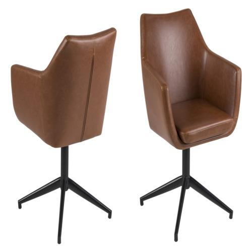 Chaise brune chaises de bureau weba meubles for Meuble bureau weba