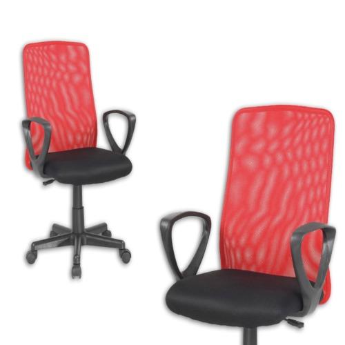 Chaise de bureau mosquito rouge noir weba meubles for Meuble bureau weba