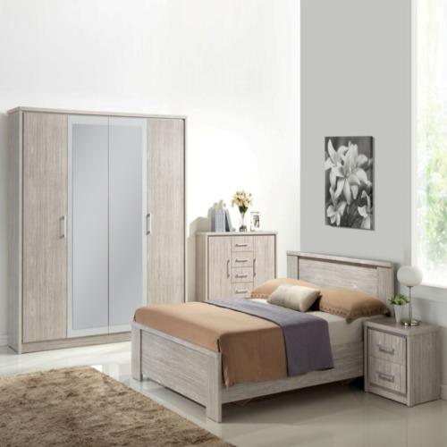Chambre coucher emotion avec lit 140x200cm weba meubles for Chambre a coucher weba